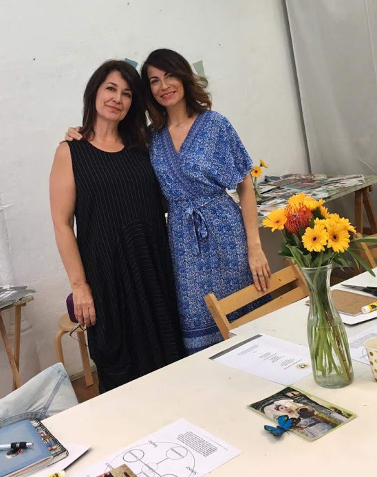 My SoulCollage® Sister and friend Veronica Schauder from NYC