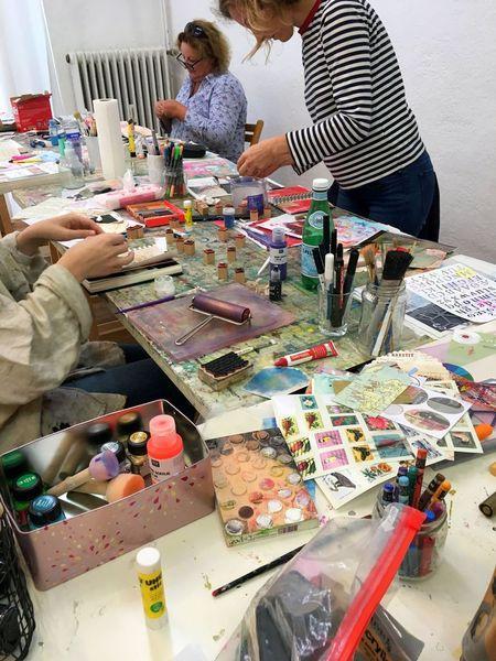 workshop impressions Heather Hoeps Intuitive Art